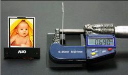 AU Optronics представила самый тонкий в мире дисплей