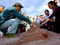 Китайцы защитили кладбище динозавров полуторакилометровой дамбой