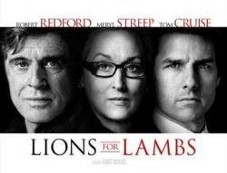 """Роберт Редфорд и Том Круз представили новый фильм \""""Lions for Lambs\"""" (\""""Львы для ягнят\"""")"""