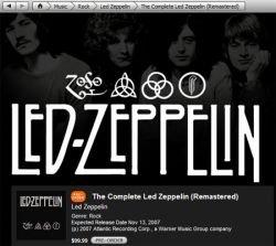 В онлайновом магазине Apple iTunes Music Store появилась музыка Led Zeppelin