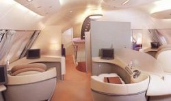 Место в Airbus A-380 обошлось в 100 тысяч долларов