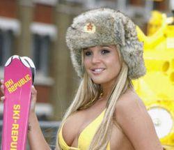 Мисс Британию в бикини пришлось охранять с танком