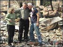 Джордж Буш пообещал помощь жертвам пожаров