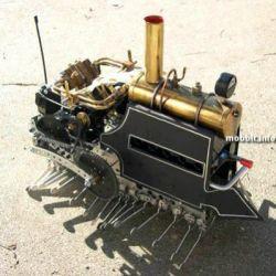 Робот-сороконожка на паровом двигателе (фото)
