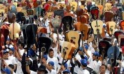 Боб Дилан в исполнении 1730 индийских гитаристов