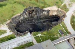 В Пермской области образовалась гигантская воронка (фото)
