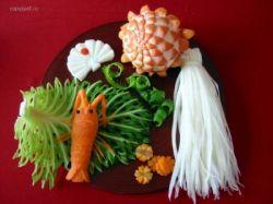 Художественная резьба по овощам и фруктам (фото)