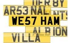 Фанат купил номерной знак Westham за 120 000 долларов