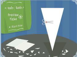 Новогодняя флэшка: Вырежи снежинку из листа бумаги