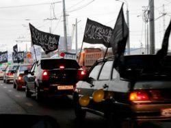 В Казани задержали машины с арабскими флагами