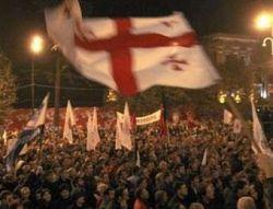 Митингующие пытались взять штурмом парламент Грузии