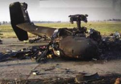"""Два военных вертолета UH-60 \""""Блэк хок\"""" столкнулись в Южной Корее"""