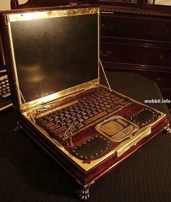 Потрясающий ноутбук на основе модели Hewlett-Packard ZT1000 в стиле steampunk (видео)