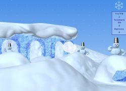 Новогодняя флэшка: Игра в снежки