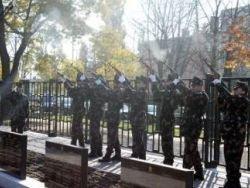 В Венгрии отрыли мемориал советским солдатам