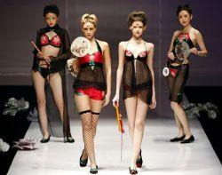 Показ женского нижнего белья Ordifen на неделе моды в Пекине (фото)