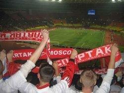 Более 50 болельщиков задержаны в Москве на матче Спартак-Байер в СК Лужники