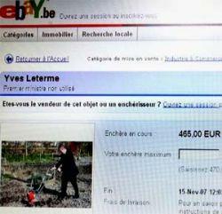 Бельгийского премьера  Ива Летерма выставили на продажу на интернет-аукционе eBay