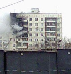 Первые кадры пожара на юге Москвы (фото)