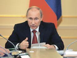 Спина Путина как вертикаль власти