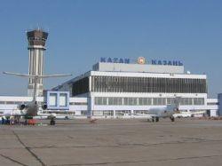 В аэропорту Казани самолет выехал за взлетную полосу