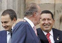 Король Испании Хуан Карлос и президент Венесуэлы Уго Чавес публично разругались