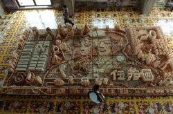 Тысячи яиц потребовалось художнику, чтобы создать копию купюры в 50 юаней (фото)