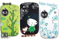 Телефоны HTC Touch в мультяшном стиле