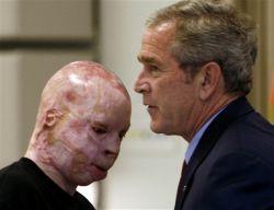 Джордж Буш (George Bush) встретился с солдатами, пострадавшими на войне в Ираке (фото)