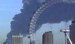 Сильный пожар в центре Лондона