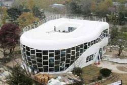 Дом в виде унитаза Haewoojae в Южной Корее официально открылся для посетителей