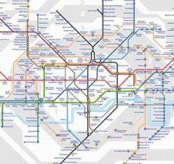 В Лондоне на карту городского транспорта нанесена новая надземная железнодорожная сеть London Overground (LO)
