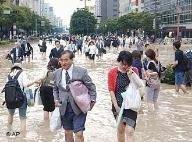 Север Японии уходит под воду из-за ливневых дождей