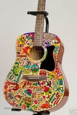Боевой раскрас акустических гитар (фото)