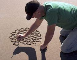 Удивительные рисунки на песке от Джима Деневана (Jim Denevan) (фото)