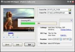 """Появилась пограмма Free DVD MP3 Ripper, которая может \""""выдергивать\"""" звуковую дорожку из DVD в отдельный файл"""