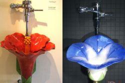 Дизайнерские писсуары-цветы от Clark Sorensen (фото)