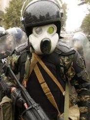 Грузинские полицейские носят противогазы в виде масок Мики Мауса