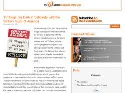 Блоггеры и фанаты телесериалов поддержали бастующих сценаристов