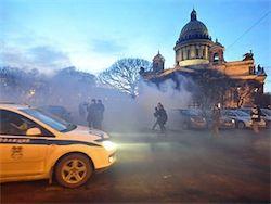 В Питере сожгли фотографии Путина, депутатов и сенаторов