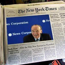 Медиамагнат Руперт Мердок объявил войну New York Times