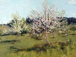 """Картину Ильи Репина \""""Цветущие яблони\"""" не пустили в Эстонию"""