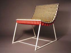 Кресло из патронов (фото)