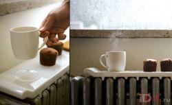 Зимний гаджет: столик для радиатора отопления