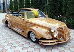 Украинец создал автомобиль из дуба (видео)