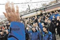 Забастовщики во Франции спалили трансформаторные будки на железных дорогах