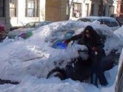 Жители Нью-Йорка обрадовались шторму