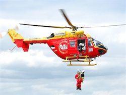 Турист решил превратить спасательный вертолет в такси