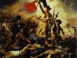 Посетительница музея расписалась на картине Эжена Делакруа