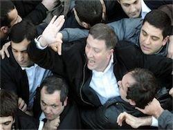 Как толпа сорвала выступление Саакашвили
